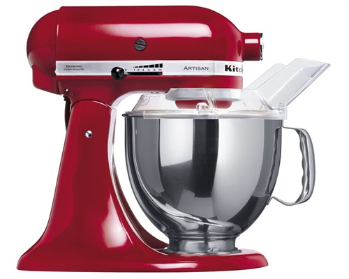 Rød kjøkkenmaskin